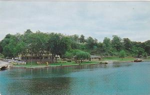 Lodge and Waterfront of Hotel Kenney, Rideau Lakes, Jones Falls, Ontario, Can...