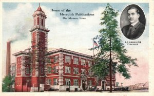 Des Moines, Iowa, IA, Home of Meredith Publications, Vintage Postcard g8298