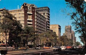 Mexico Hotel y Avenida Reforma Avenue Street Vintage Cars Voitures