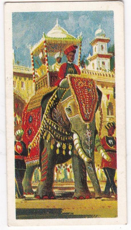 Trade Cards Brooke Bond Tea Transport Through The Ages No 1 Elephant