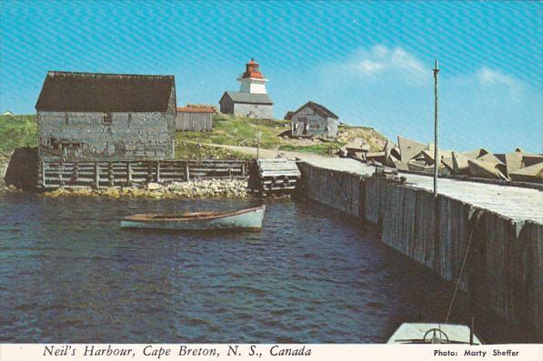 Lightouse At Neil's Harbour Cape Breton Nova Scotia Canada