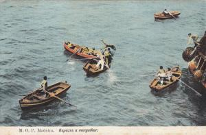 Madeira Portugal Rescue Boats Disaster Old Postcard