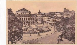 Belgium Liege Place de la Republique et le Grand Theatre