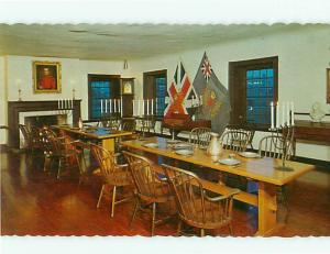 Toronto Canada Fort York Dining Hall Historic Pewter Officers Rm Postcard # 5880