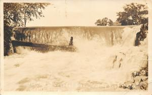 De Witt Iowa~Spillover @ Crystal Lake During High Water~Sepia RPPC c1917