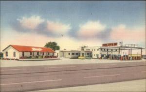 Snyder TX Roadside Linen Phillips 66 Gas Station Route 2 Truck Stop Postcard