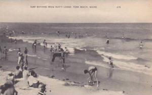 Maine York Beach Surf Bathing From Rusts Lodge