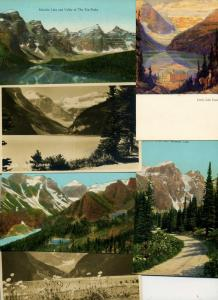 6 VINTAGE POSTCARDS LOT ALL FROM BANFF ALBERTA CANADA RPPC