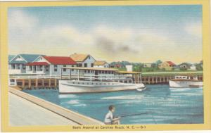 Boats moored at Carolina Beach , North Carolina , 30-40s