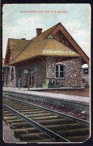 PEI Prince Edward Island KENSINGTON Station - Railroad - Divided Back