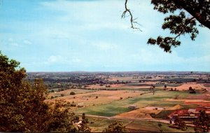 Kentucky Cave City & Adjoining Farm Lands Seen From Veranda At Top Of Cave Co...