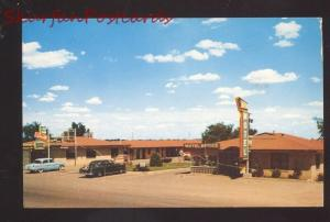 AMARILLO TEXAS ROUTE 66 SKYLING MOTEL 1950's CARS VINTAGE ADVERTISING POSTCARD