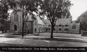 C51/ Fort Dodge Iowa Ia Real Photo RPPC Postcard 1950 First Presbyterian Church