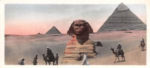 Egypt, Egypte, Africa Pyramids and Sphinx, smaller size postcard  Pyramids, S...