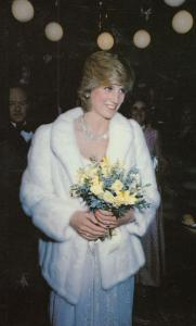 Princess Diana at Little Foxes London Movie Film Premiere Royal Postcard