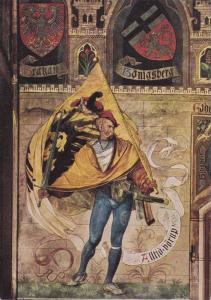 Universitatsstadt Gottingen , Germany , 30-40s ; Der Landsknecht mit der Fahne