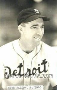 Lynn Nelson Base Ball Postcard Detroit Tigers Baseball Postcard Post Card  Ly...