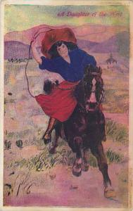 A Daughter of the West, Woman horseback riding, 10-20s