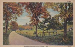 Vermont Greetings From Pownal Curteich