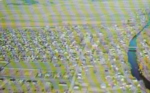 Canada Aerial View Louiseville Quebec 1969