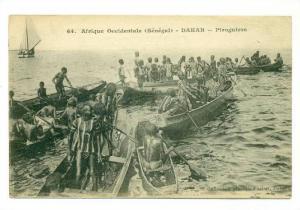 Senegal , DAKAR , Piroguiers 00-10s