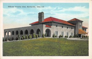 Hillcrest Country Club, Bartlesville, Oklahoma, Early Postcard, Unused