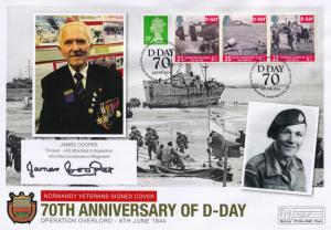James Cooper 43rd Wessex Gloucestershire Regiment Hand Signed WW2 D-Day FDC
