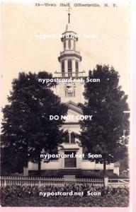 RPPC, Town Hall, Gilbertsville NY