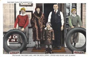 Lewiston ME Bell Tire Co. Barkerville Kelly Tires Bell Family Postcard