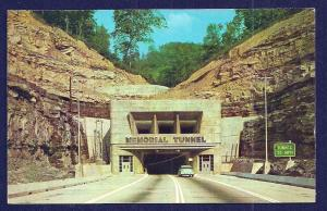 Turnpike Memorial Tunnel West Virginia unused c1955