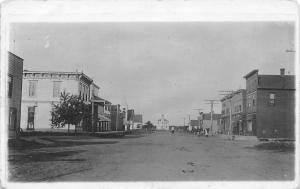 Aredale IA~Main Street~Sad Town~Ed's Livery Blacksmith Fire Last Night~1914 RPPC