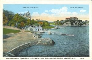 Commodore James and Marion Eppley Estate ~ Newport RI Rhode Island Postcard