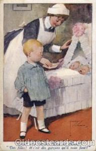 Artist Lawson Woods Baby Bottle Post Card,  Post Card  Artist Lawson Woods