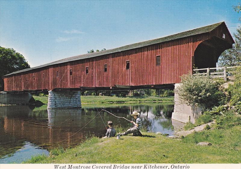 The West Montrose Covered Bridge,  Kitchener,  Ontario,  Canada,  50-60s