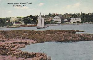Maine Portland Peaks Island Water Front 1913