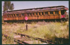 Milwaukee Road Composite Observation Car Luxury Abandoned Train RR Postcard