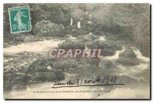 Old Postcard The Great Source Cuisance the boards near Arbois