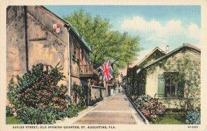 Postcard Aviles Street Old Spanish Quarter St Augustine Florida