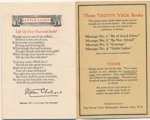 Trotty Veck Messenger of Saranac Lake NY #4 Little Lights Inspirational Messages