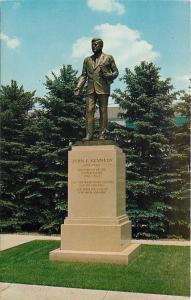 McKeesport Pennsylvania~President John F Kennedy Memorial Statue~JFK Park~1965