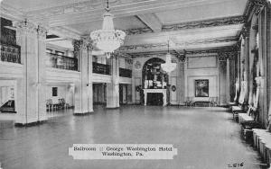 Washington PA George Washington Hotel Ballroom~Chandeliers 1837