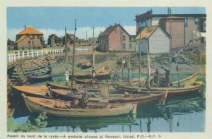 Fishing Boats - Roadside Glimpse at Newport, Gaspe QC, Quebec, Canada