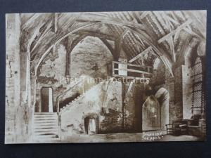 Shropshire STOKESAY CASTLE THE HALL Old RP Postcard by W.A. Call / Cambria S