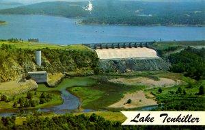 OK - Tenkiller Lake, Spillway & Powerhouse. (damage top, center)