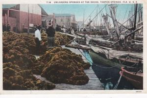 Florida Tarpon Springs Unloading Sponges At The Docks Curteich