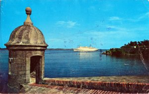 San Juan Puerto Rico - SENTRY BOX at el Morro 1960s