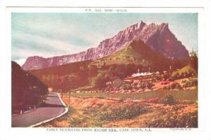 South Africa 40-50s ; Table Mountain from Kloof Neck , Cape Town