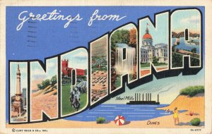 Postcard Greetings from Indiana