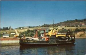 Meguasha Que-Dalhousie New Brunswick Ferry Boat Romeo et Annette Postcard