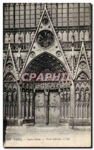 Paris Old Postcard Notre Dame Side Door